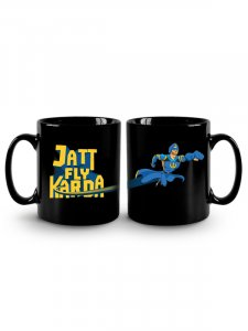 A Flying Jatt - Black Mug