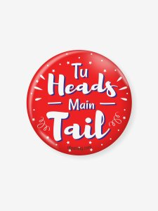 Heads Tail Badge