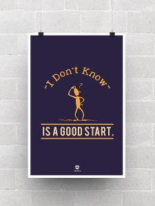 I Don't Know Poster
