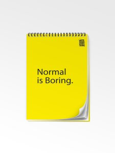 Normal is Boring Notepad