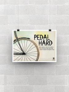 Pedal Hard Poster