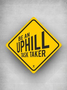 Uphill Task Taker Signage