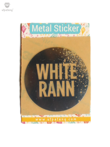White Rann Metal Sticker
